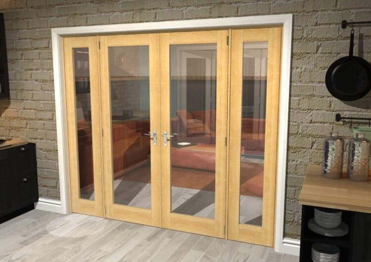 "P10 Oak French Door Set - 24"" Pair + 2 X 18"" Sidelights Image"