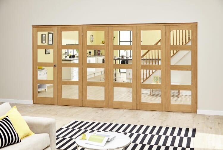 Oak 4l - 6 Door Roomfold Deluxe (5 + 1 X 610mm Doors) Image