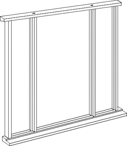 Universal Oak Vestibule Frame - Single Leaf Up To 84 X 36 Image