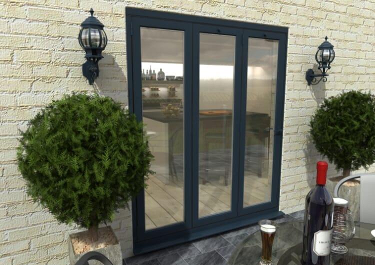 Part Q 1800mm Grey Aluminium Bifold Door - Climadoor Image