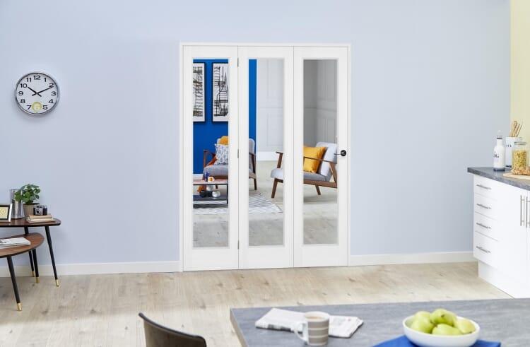 Slimline White P10 Roomfold Deluxe ( 3 X 381mm Doors ) Image