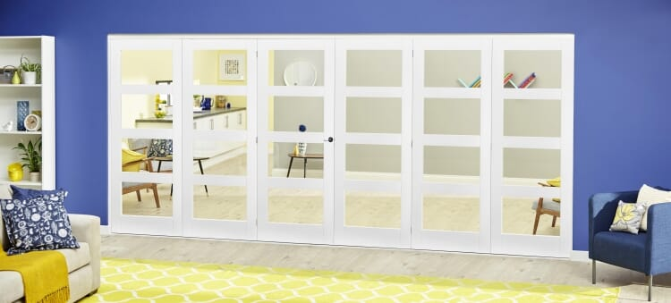 White 4l Roomfold Deluxe ( 3 + 3 X 610mm Doors ) Image