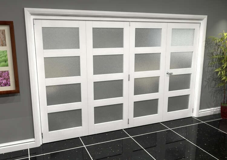 White Frosted 4l Roomfold Grande (3 + 1 X 762mm Doors) Image